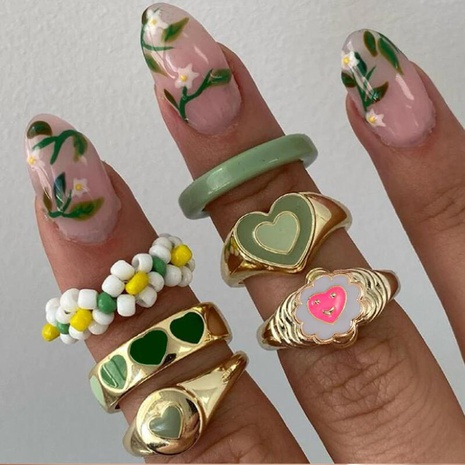 simple fashion multi-layer eart drop wax color ring wholesale Nihaojewelry  NHYI406454's discount tags