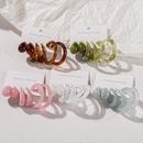 retro Cshape transparent earrings set 3 pairs wholesale Nihaojewelry NHPJ406462