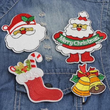 Dibujos animados Santa calcetines Bells broche de tela de cuero al por mayor Nihaojewelry NHCU406523's discount tags
