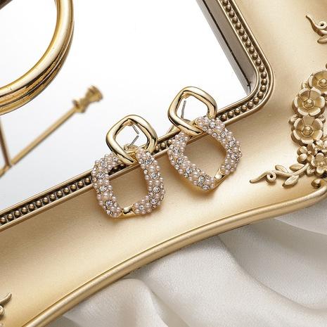 Großhandel Schmuck quadratische geometrische Strass Perlen Anhänger Ohrringe nihaojewelry NHMS406583's discount tags