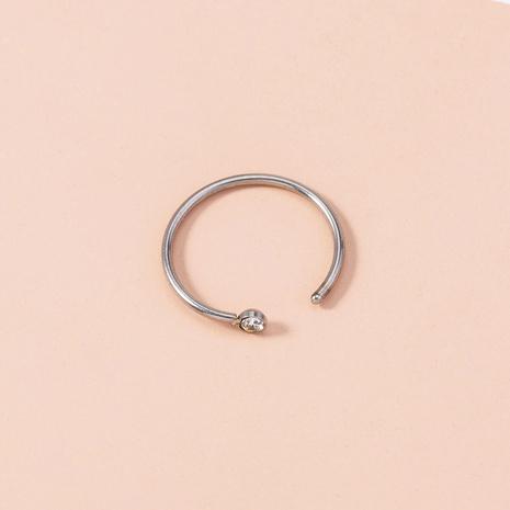 Mode diamantbesetzter Edelstahl Piercing runder Nasenring Großhandel Nihaojewelry NHDB406715's discount tags