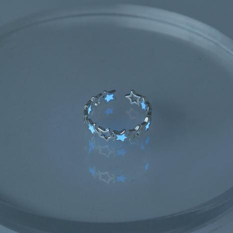 anillo de circón estrella luminosa azul oscuro de halloween al por mayor Nihaojewelry NHDB406719's discount tags