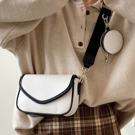 new simple retro contrast color messenger small square bag wholesale nihaojewelry NHLH406889's discount tags