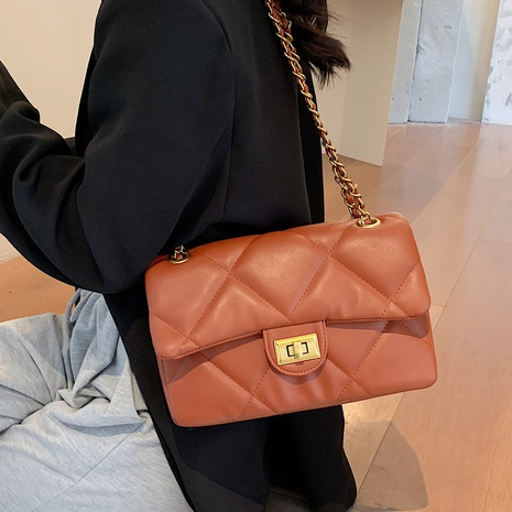 wholesale rhombus solid color messenger shoulder small square bag nihaojewelry  NHLH406929's discount tags
