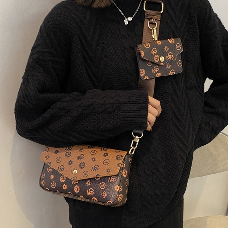 retro fashion printing small square shoulder messenger bag wholesale nihaojewelry NHLH406938's discount tags