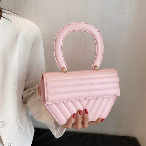 fashion simple solid color small square messenger bag wholesale nihaojewelry NHGN406993's discount tags