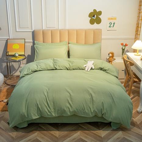 Großhandel einfarbig hellgrün Bettbezug Bettwäsche-Set nihaojewelry NHMAR407051's discount tags