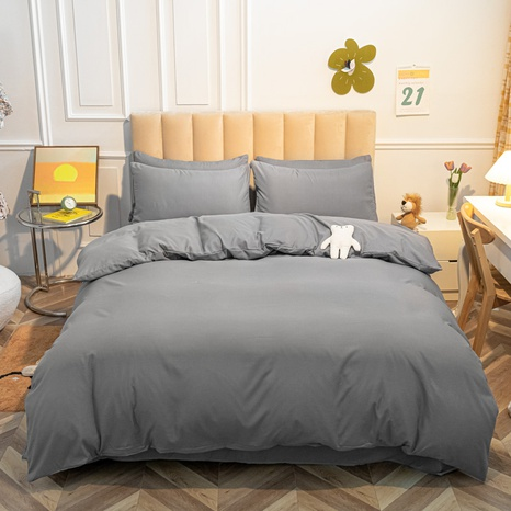 Großhandel einfarbig graue Bettbezug Bettwäsche-Set nihaojewelry NHMAR407050's discount tags