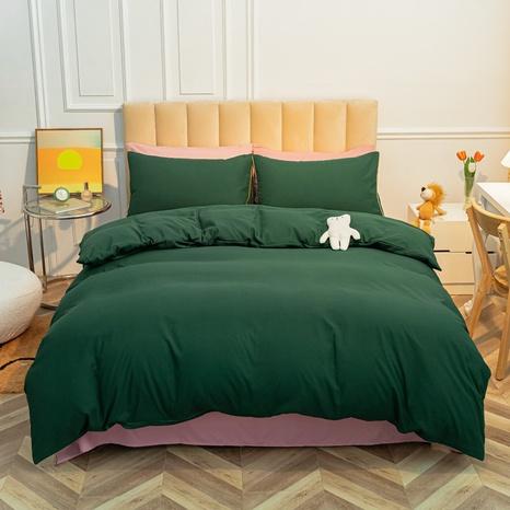 Reine Farbe dunkelgrün gebürstet einfache Bettwäsche-Sets Großhandel Nihaojewelry NHMAR407049's discount tags