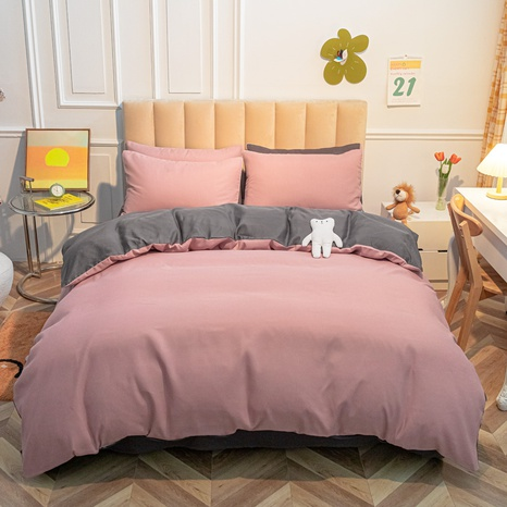 Reine Farbe rosa grau gebürstet einfache Bettwäsche-Set Großhandel Nihaojewelry NHMAR407047's discount tags