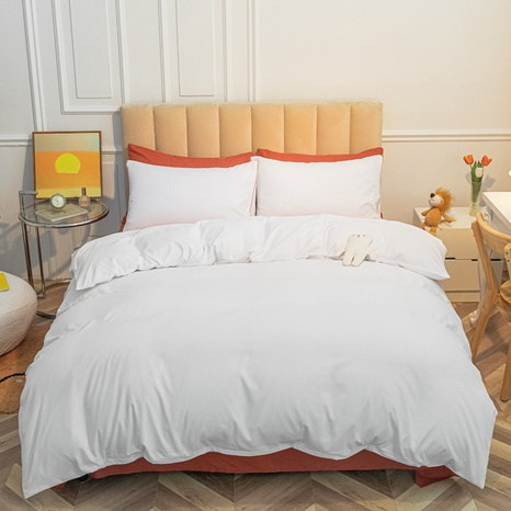Reine Farbe weiß gebürstet einfache Bettwäsche-Set Großhandel Nihaojewelry NHMAR407046's discount tags