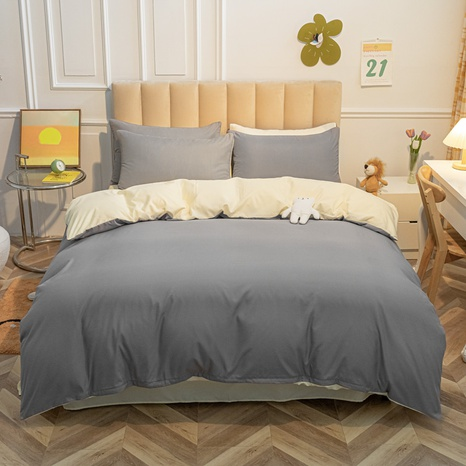 Großhandel zweifarbige apricot grau Bettbezug Bettwäsche-Set nihaojewelry NHMAR407045's discount tags