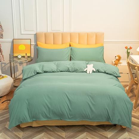 Großhandel zweifarbig gelb grün Bettbezug Bettwäsche-Set nihaojewelry NHMAR407044's discount tags