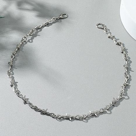 vente en gros bijoux style punk épines chaîne collier bracelet nihaojewelry NHACH395416's discount tags