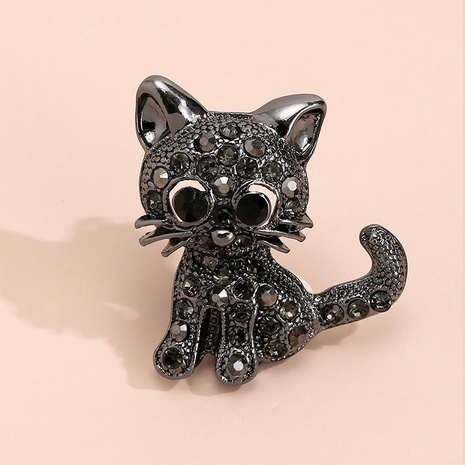 Großhandel süße Katzenperlenglasbrosche Nihaojewelry NHYAO395461's discount tags