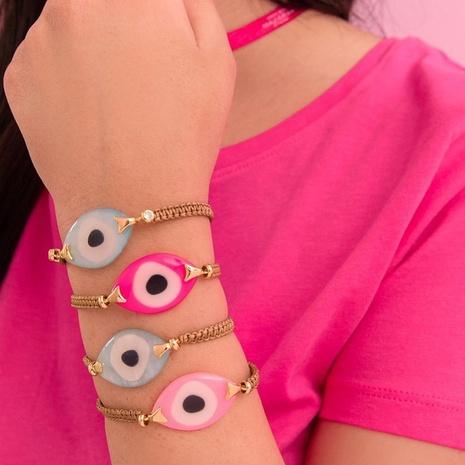 acrílico mal de ojo estilo étnico pulsera tejida a mano joyería al por mayor Nihaojewelry NHBDB395485's discount tags