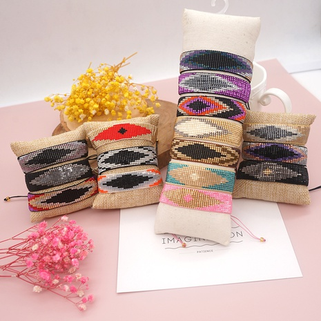 geometric miyuki beads handmade woven ethnic style wide bracelet wholesale jewelry Nihaojewelry NHBDB395489's discount tags