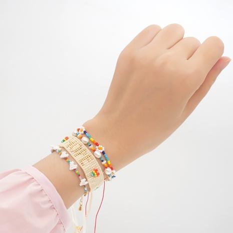 rainbow daisy flower miyuki bead woven stacking bracelet wholesale jewelry Nihaojewelry NHBDB395490's discount tags