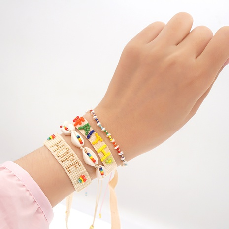 color miyuki bead shell bohemian style stacking bracelet wholesale jewelry Nihaojewelry   NHBDB395491's discount tags