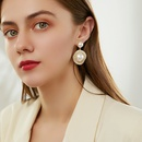 wholesale fashion rhinestone pearl drop earrings Nihaojewelry  NHNJ395503
