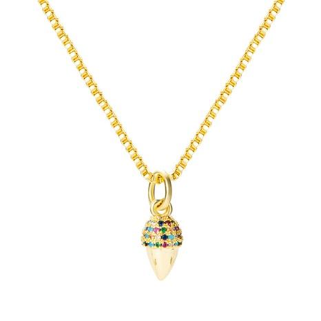 Collier en cuivre de personnalité de zircon micro-incrusté créatif 18K en gros nihaojewelry NHYIS395677's discount tags