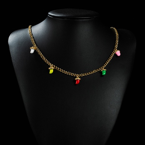 Collier en cuivre petit pendentif couleur 18K en gros nihaojewelry NHYIS395686's discount tags