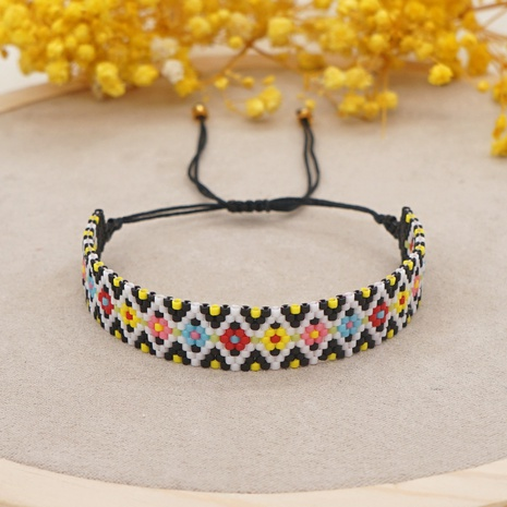 flower geometric handmade Miyuki bead ethnic style bracelet wholesale jewelry Nihaojewelry  NHGW395707's discount tags