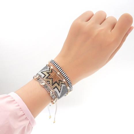 pearls diamonds Miyuki beads geometric ethnic style bracelet wholesale jewelry Nihaojewelry NHGW395708's discount tags