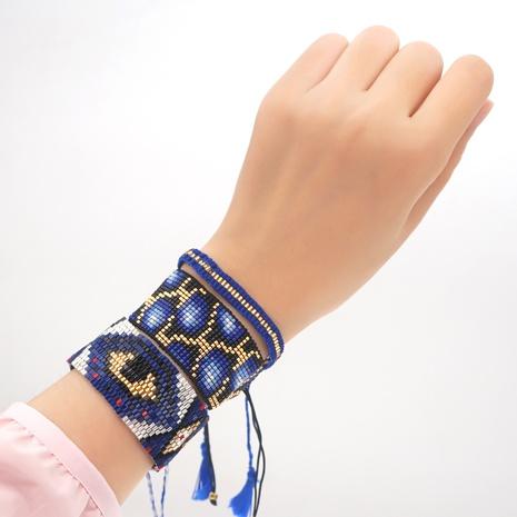 mal de ojo Miyuki bead tejido leopardo estilo étnico pulsera joyería al por mayor Nihaojewelry NHGW395710's discount tags