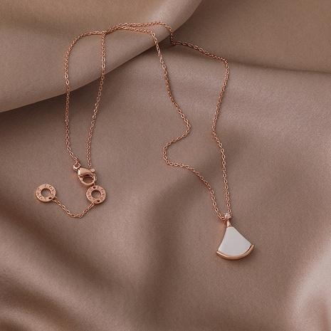 mode petite jupe coquille blanche nacre collier de cuivre en gros nihaojewelry NHMS395717's discount tags