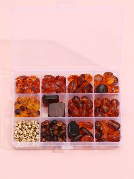 12 Gitter Set braune Perlen DIY Armband Material Box Zubehör Großhandel Nihaojewelry NHLL395787's discount tags