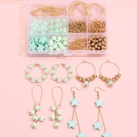 hellgrüne Perlen Ohrringe Material Box 12 Gitter Set Zubehör Großhandel Nihaojewelry NHLL395789's discount tags
