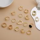 wholesale jewelry geometric twist circle glossy open ring nihaojewelry  NHLL395793