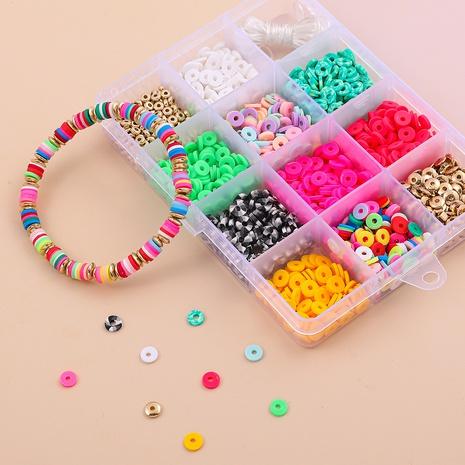 weiche Keramik DIY Halskette Armband Material Box 12 Gitter Set Zubehör Großhandel Nihaojewelry NHLL395798's discount tags