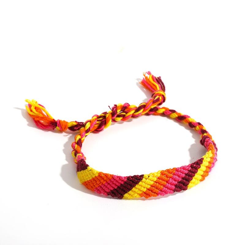 ethnic style cotton weaving color wide bracelet wholesale jewelry Nihaojewelry NHLL395808