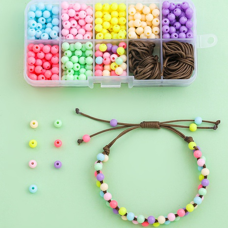 Farbe Perlen handgemachte DIY Armbänder Halskette Materialien Box 10 Gitter Set Großhandel Nihaojewelry NHLL395811's discount tags