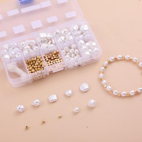 weiße Perle DIY Armband Material Box 10 Gitter Set Zubehör Großhandel Nihaojewelry NHLL395812's discount tags
