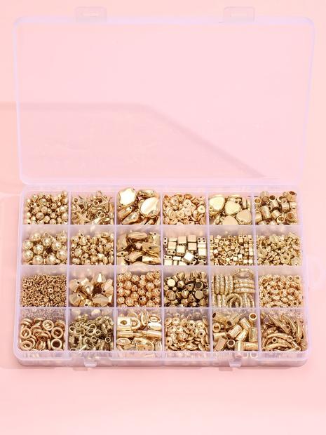 goldene geometrische DIY Armband Material Box 24 Gitter Set Großhandel Nihaojewelry NHLL395824's discount tags