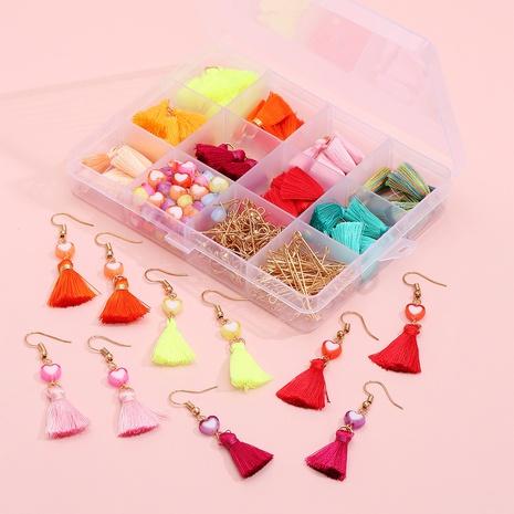 Herzform Quaste DIY Ohrringe Anhänger Material Box Zubehör Großhandel Nihaojewelry NHLL395827's discount tags