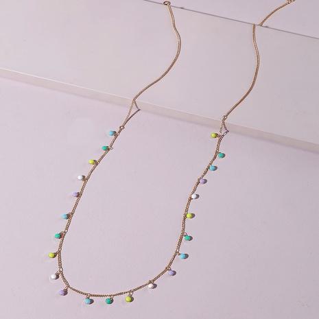 Großhandel böhmische Farbe tropfende Öl-Kupfer-Körper-Kette Nihaojewelry NHLU395893's discount tags
