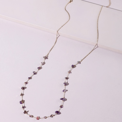Großhandel Bohemian Crushed Stone Amethyst Taillenkette Nihaojewelry NHLU395925's discount tags