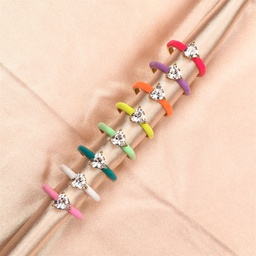 wholesale simple heart zircon copper ring Nihaojewelry NHPY396165