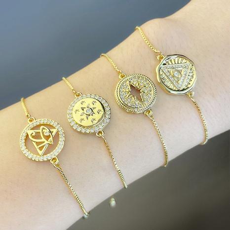 bracelet d'oeil géométrique simple en gros bijoux Nihaojewelry NHAS396285's discount tags