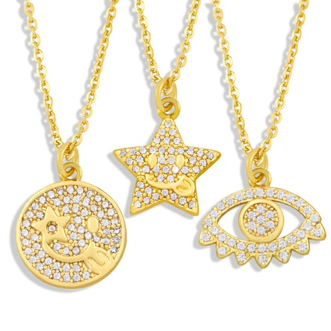 Gros Bijoux Smiley Star Pendentif Cuivre Collier Nihaojewelry NHAS396289's discount tags