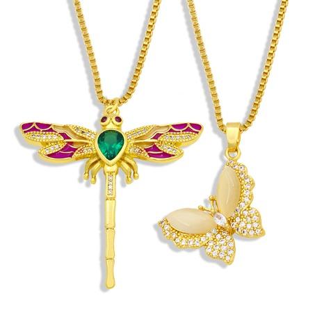 wholesale pendentif insecte libellule papillon cuivre collier Nihaojewelry NHAS396291's discount tags