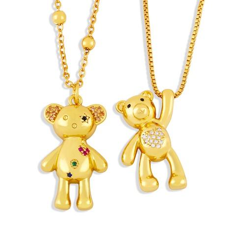 Vente en gros joli collier en cuivre en forme d'ours Nihaojewelry NHAS396297's discount tags