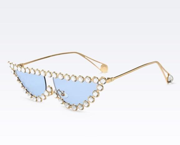 wholesale diamond-studded cat eye sunglasses nihaojewelry  NHZIH396650's discount tags