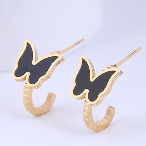 Großhandel Schmuck Schmetterling Titan Stahl Ohrstecker Nihaojewelry NHSC396636's discount tags