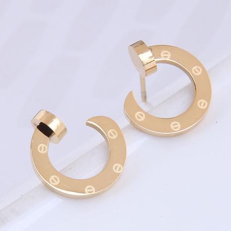 Großhandel Schmuck C-förmige Titanstahlohrstecker nihaojewelry NHSC396635's discount tags
