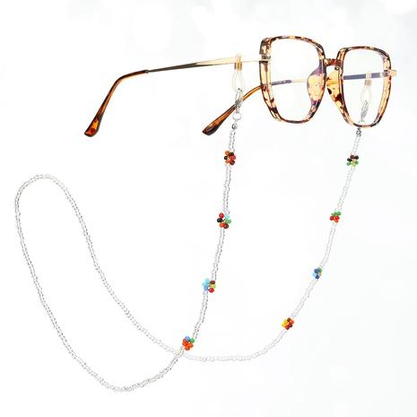 Mode Blume hängende Brille Maske Miyuki Perlen Kette Großhandel nihaojewelry NHGO407053's discount tags